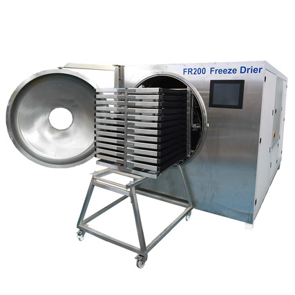 FR100 freeze drier with product loading trolley