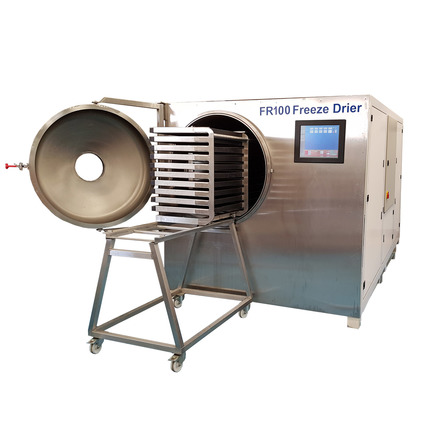FR50 freeze drier with product loading trolley