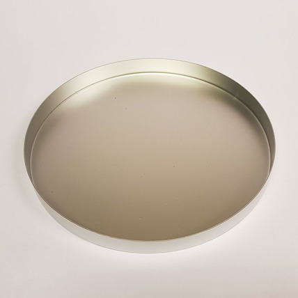 210mm diameter aluminium tray