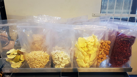 Freeze dried food test batch