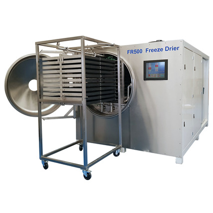 FR500 freeze drier with product loading trolley